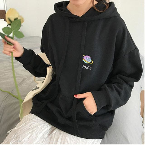 Space Hoodies - affordable Cheap Clothes Quality styles - black / One Size
