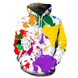 Splat 3D Hoodie - affordable Cheap Clothes Mens Hoodies Quality - picture color 15 / S