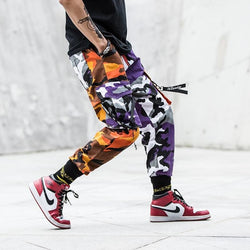 Split Camo Cargo Pants - Streetwear Bottoms
