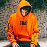 STAFF Hoodies - affordable Cheap Clothes Mens Hoodies Quality - Orange / S
