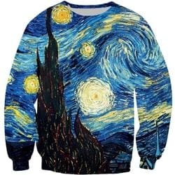 Starry Nights Shirts Hoodies Pants Shorts Longsleeves Tanks Socks - Bottoms Hoodies Longsleeves Mens Mens Hoodies - Sweaters / S