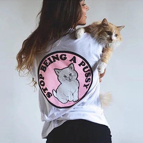 Stop Being a Pussy Shirts - affordable Cheap Clothes Quality shirts
