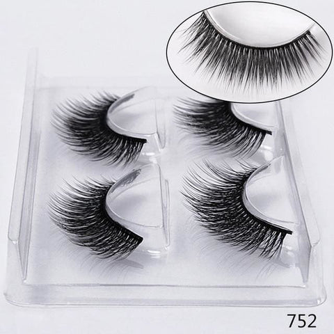 STYLE 752 3D Mink Lashes ( 2 PAIRS ) Lashes