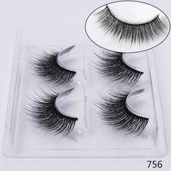 STYLE 756 3D Mink Lashes ( 2 PAIRS ) Lashes - CURL / 756 / warehouse