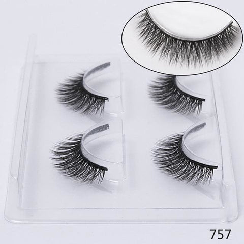 STYLE 757 3D Mink Lashes ( 2 PAIRS ) Lashes