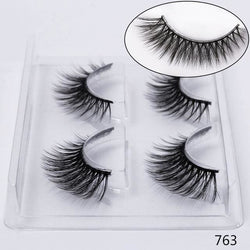 STYLE 763 3D Mink Lashes ( 2 PAIRS ) Lashes - CURL / 763 / warehouse