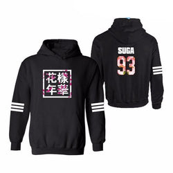 SUGA Hoodies + Plus Sizes - affordable BTS Cheap Clothes Quality - black 5 / S