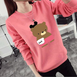 Teddy Bear Thick Longsleeve Sweaters - affordable Cheap Clothes Quality styles