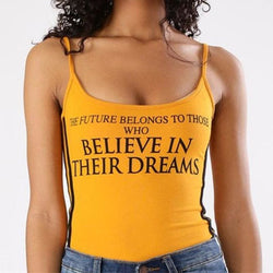 THE FUTURE BELONGS TO THOSE WHO BELIEVE IN THEIR DREAMS Bodysuits - affordable Cheap Clothes Quality styles