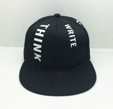 Think & Write Hats - affordable Cheap Clothes Hats KPOP Accessories - Black