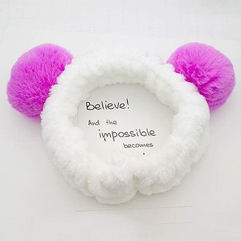 Tomo Fluffy Cat Ears Headband - affordable Cheap Clothes Quality styles - Purple