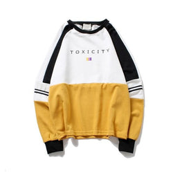 Toxicity Sweater - affordable Cheap Clothes Mens Longsleeves Quality - yellow sweatshirt / M