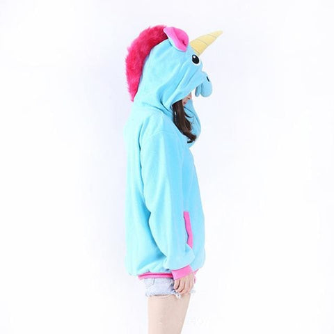 Unicorn Hoodies - affordable Cheap Clothes Quality styles - Sky Blue / S