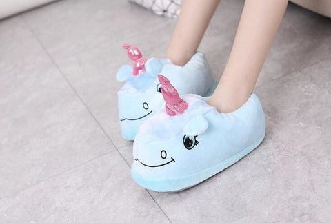Unicorn Slippers - affordable Cheap Clothes Quality Slippers - Blue