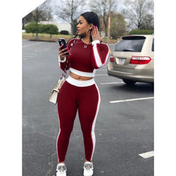 Vanessa Tracksuits - affordable Cheap Clothes Quality styles - Burgundy / S