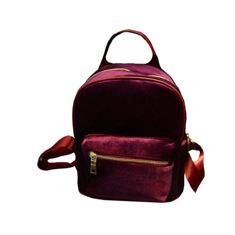 Velvet Mini Backpacks - affordable Cheap Clothes Quality styles