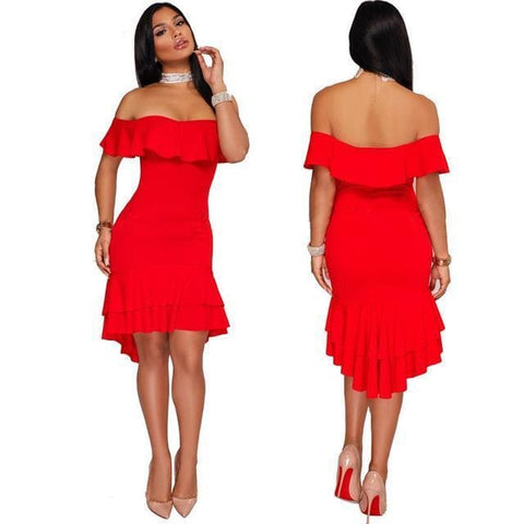 Viola Dress - affordable Cheap Clothes Quality styles - Red / XXXL