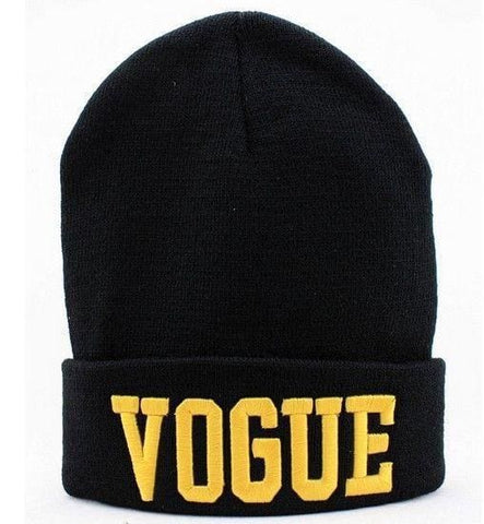Vogue Beanies - affordable Beanies Cheap Clothes Quality - Black Gold letter