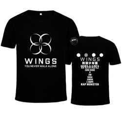 WINGS BTS Shirts - affordable Cheap Clothes KPOP Shirts Quality
