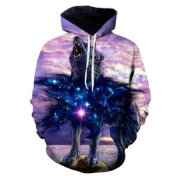Wolf 3D Hoodie - affordable Cheap Clothes Mens Hoodies Quality - picture color 20 / S