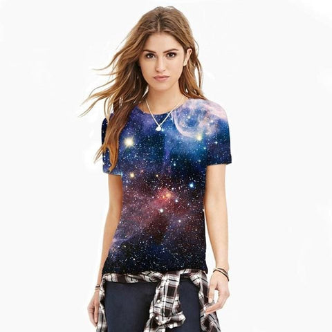 Womens Galaxy Shirts - affordable Cheap Clothes Quality Rave Shirts - 193 / L