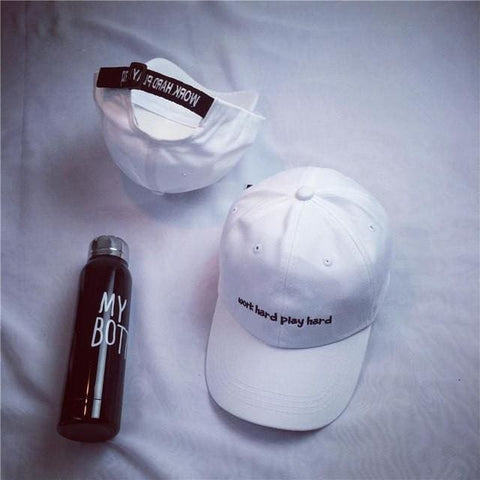 Work Hard Play Hard Hats - affordable Cheap Clothes Quality styles - White