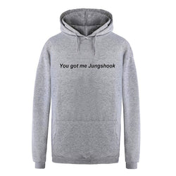 You Got Me Jungshook Hoodies - affordable BTS Cheap Clothes Quality