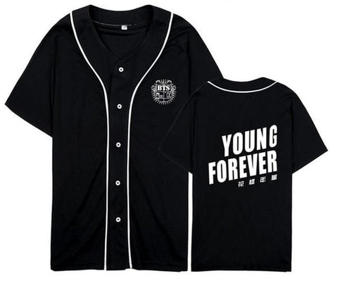 Young Forever BTS Jerseys - affordable BTS Cheap Clothes Quality - Young Fover / S