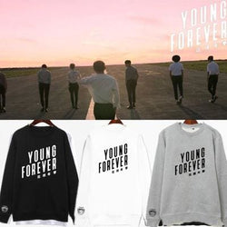 Young Forever BTS Sweaters - affordable Cheap Clothes KPOP Sweaters Longsleeves