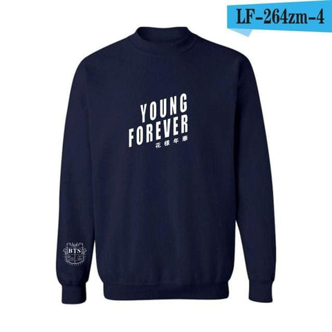 Young Forever BTS Sweaters - affordable Cheap Clothes KPOP Sweaters Longsleeves - Blue / S