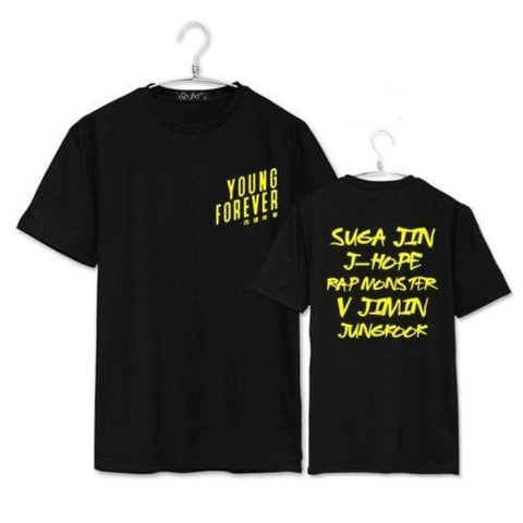 YOUNG FOREVER Shirts - affordable BTS Cheap Clothes Quality - 01 / S