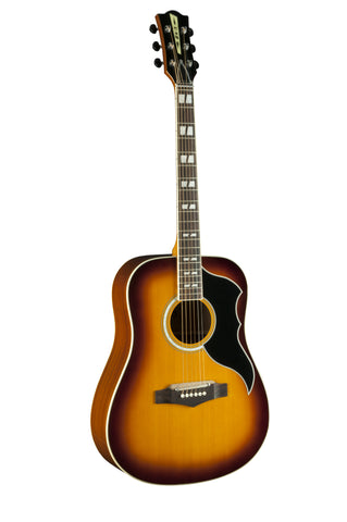 Eko 06216942 Ranger VI Vintage Reissue 6 String Acoustic Electric Guitar - Honey Burst
