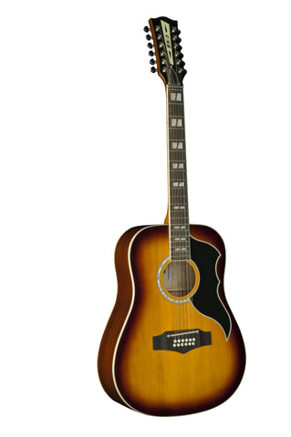 Eko 06216943 Ranger XII Vintage Reissue 12 String Acoustic Electric Guitar - Honey Burst