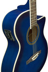 Eko 06217022 NXT Series Auditorium Cutaway Acoustic Electric Guitar - Blue Burst