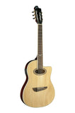 Eko 06217035 NXT Series Nylon Cutaway Acoustic Electric Guitar - Natural