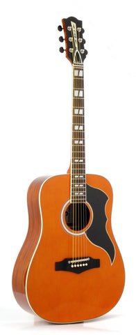 Eko 06217118 Ranger VI Vintage Reissue 6 String Acoustic Guitar - Natural