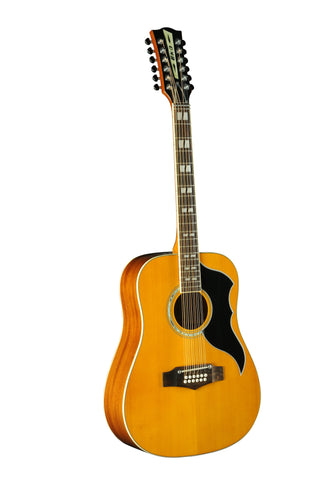 Eko 06217129 Ranger XII Vintage Reissue 12 String Acoustic Electric Guitar - Natural