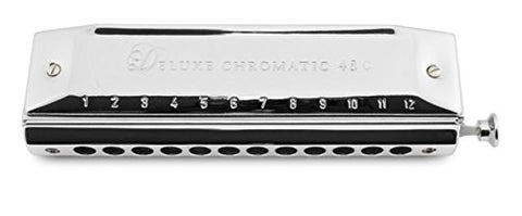 Hering 5248C Deluxe Chromatic 48 Harmonica Brass with Chrome Coating Key of C
