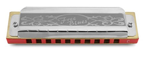 Hering 7020E Free Blues Diatonic Harmonica Stainless Steel and Plastic Key of E