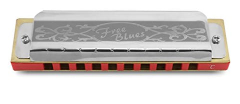 Hering 7020C Free Blues Diatonic Harmonica Stainless Steel and Plastic Key of C