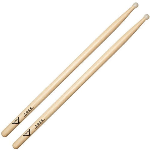 Vater VHRN Percussion Hickory Rock Nylon Tip Drum Sticks