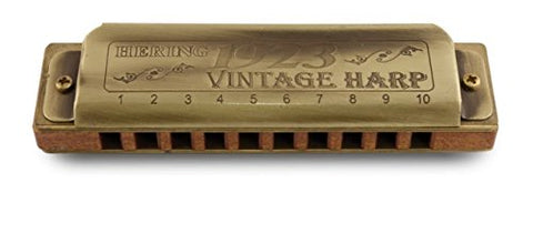 Hering 1020G Diatonic Vintage Harp 1923 Harmonica Brass and Wood Key of G