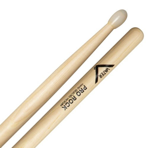 Vater VHPRN Pro Rock Oval Nylon Tip Drum Sticks American Hickory