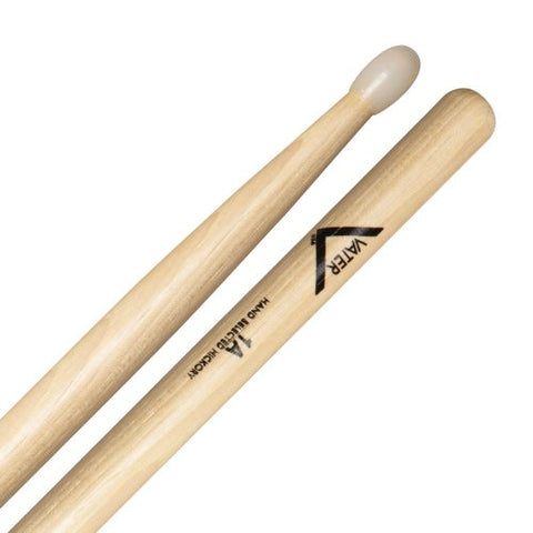 Vater VH1AN American Hickory 1A Nylon Tip Drum Sticks 5B Style Grip