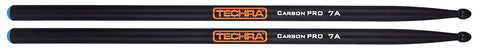 Techra CP-7A Carbon Pro Series 7A Drum Sticks - Carbon Fiber 7A