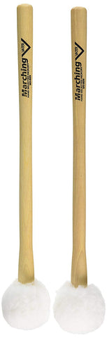 Vater MV-B2S Small Puff Marching Bass Drum Mallets Hard Felt Wood