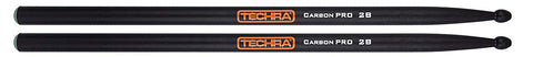 Techra CP-2B Carbon Pro Series Drum Sticks - Carbon Fiber 2B