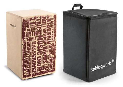 Schlagwerk CP130 PACK X-One Series Unique Styles Cajon with BackPack Bag