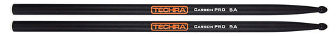 Techra CP-5A Carbon Pro Series 5A Drum Sticks - Carbon Fiber 5A