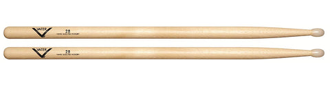 Vater VH2BN American Hickory 2B Nylon Tip Drum Sticks Oval Pair